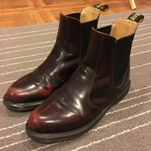Dr. Martens Flora red boots